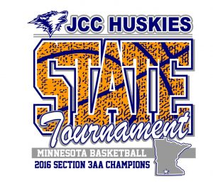Custom Designs for JCC Huskies 2016 State Basketball